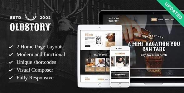 OldStory - Whisky Bar | Pub | Restaurant WordPress Theme