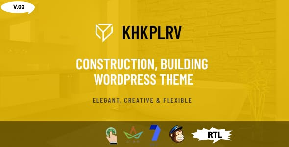 Khkplrv -Construction, Building WordPress Theme - Business Corporate
