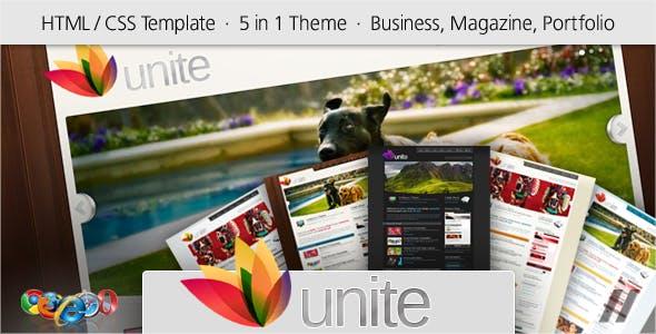 Unite - HTML Business, Magazine, Community Site