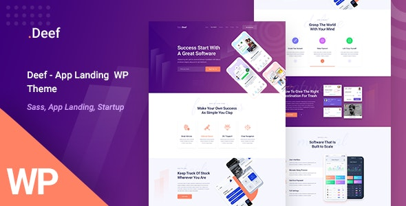Deef - App Landing WordPress Theme - Software Technology