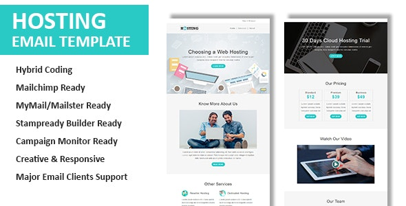 Hosting - Multipurpose Responsive Email Template with Online StampReady & Mailchimp Editors - Email Templates Marketing