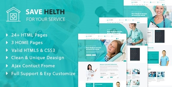 Save Health - Medical  & Health  HTML5 Template - Health & Beauty Retail