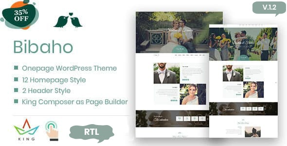 Bibaho – Wedding WordPress Theme