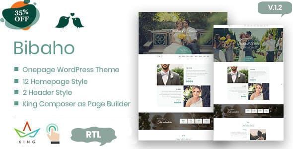 Download Bibaho - Wedding WordPress Theme