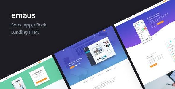 Emaus   SaaS, WebApp, Ebook Responsive Landing Page HTML - Software Technology