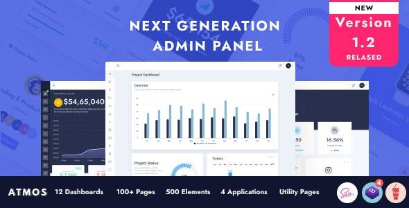 Atmos- Next Generation Admin Panel Design - Admin Templates Site Templates