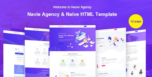 Naive Creative Digital Agency Template - Creative Site Templates