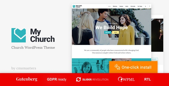 My Church - Religion WordPress Theme with Events, Donations & Sermons - Churches Nonprofit