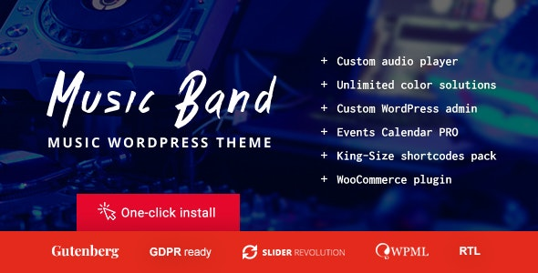 Music Band Live Event and Dance Club WordPress Theme - Music and Bands Entertainment