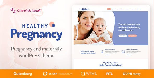 Healthy Pregnancy - Health & Medical WordPress Theme