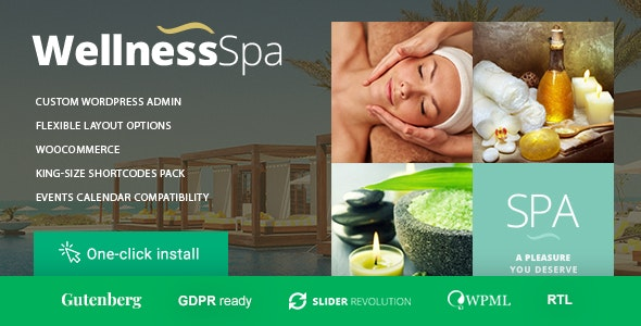 Wellness SPA - Resort, SPA & Beauty Salon WordPress Theme - Health & Beauty Retail