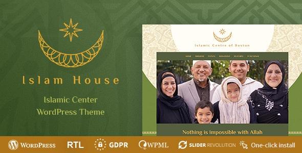 Islam House - Mosque and Religion WordPress Theme - Churches Nonprofit