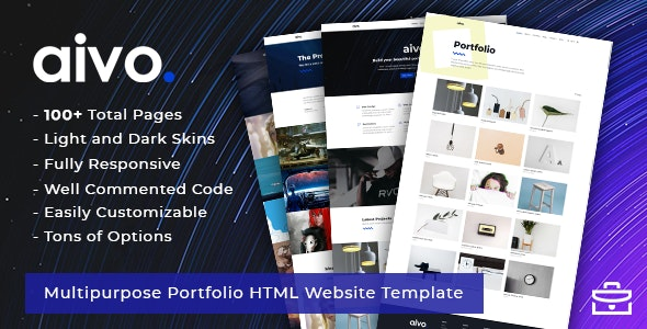 Aivo - Responsive Portfolio HTML Website Template - Portfolio Creative