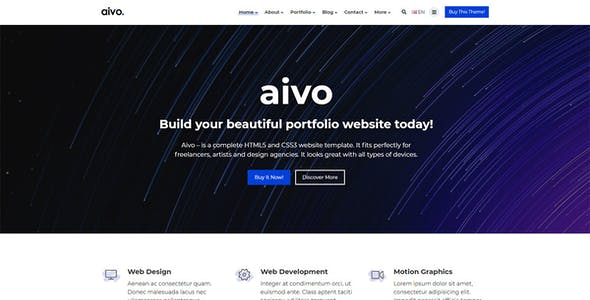 Aivo - Responsive Portfolio HTML Website Template