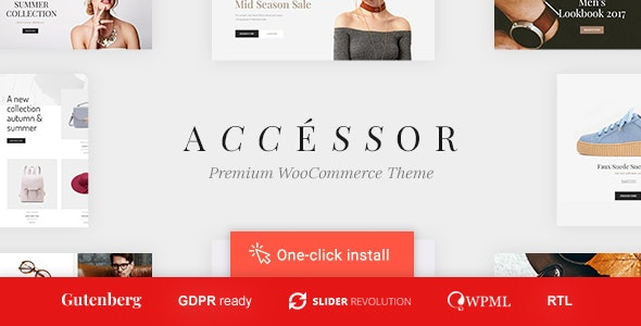 Accessories Shop - Online Store, WooCommerce & Shopping WordPress Theme - WooCommerce eCommerce