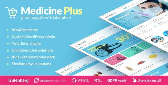 Medicine Plus - Medical Pharmacy & Drugstore Theme - Health & Beauty Retail