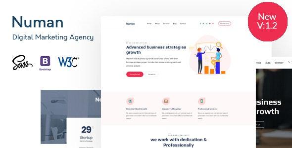 Numan- Digital & Marketing Agency HTML Template - Technology Site Templates
