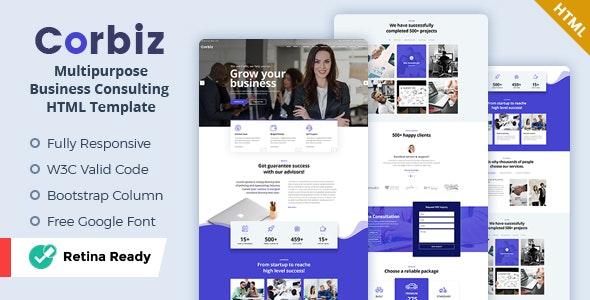 Corbiz - Multipurpose Business Consulting HTML Template - Corporate Site Templates