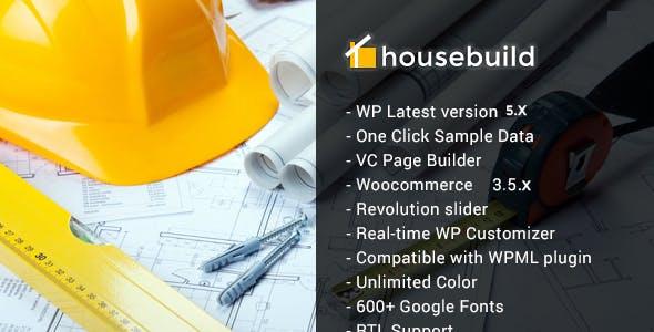 Housebuild - WordPress Construction Business Theme