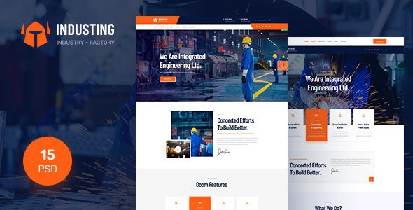 Industing - Industry & Factory Business PSD Template - Business Corporate