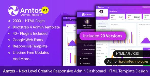 Amtos- Next Level Creative Admin HTML Template Design - Admin Templates Site Templates