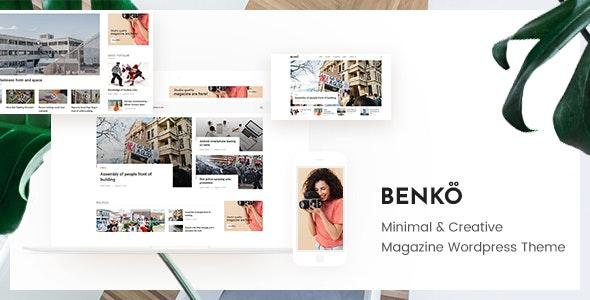 Benko - Creative Magazine WordPress Theme - News / Editorial Blog / Magazine