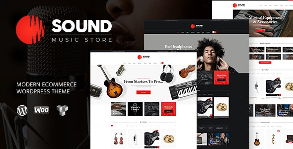 Sound | Musical Instruments Online Store WordPress Theme - WooCommerce eCommerce