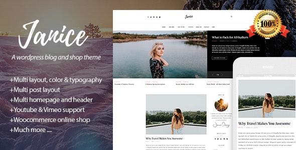 Janice - A Responsive WordPress Blog and Shop Theme - Personal Blog / Magazine
