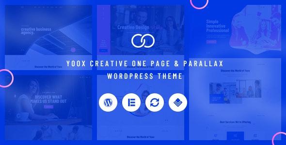 Yoox -  Creative One Page & Parallax WordPress Theme - Creative WordPress