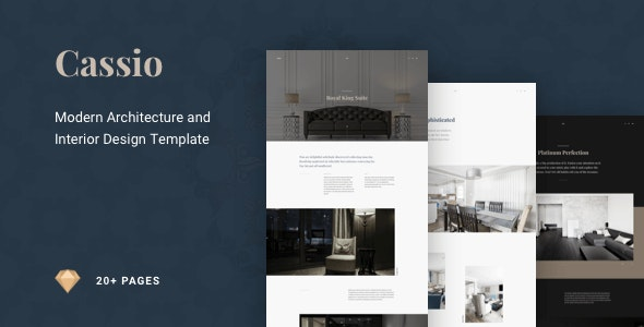 Cassio – Architect Creative Portfolio Sketch Template - Sketch UI Templates