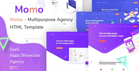 Momo  – Multipurpose Agency HTML Template - Creative Site Templates