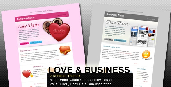 Valentine and Business - Email Template - 2 Layout - Newsletters Email Templates