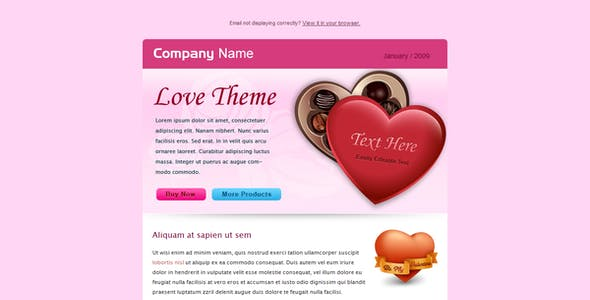 Valentine and Business - Email Template - 2 Layout