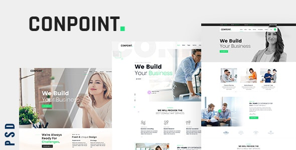 Conpoint - Business Consulting and Professional Services PSD Template - Business Corporate