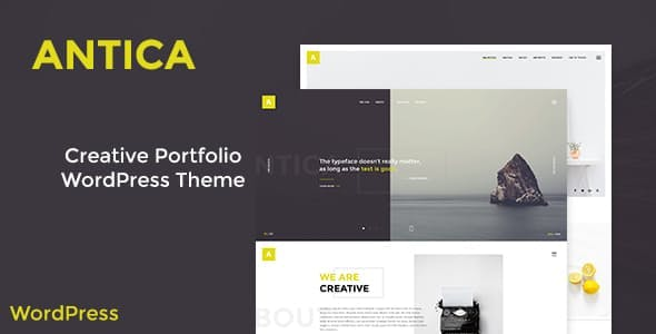 Antica — Multipurpose Business Agency/Personal Portfolio WordPress Theme