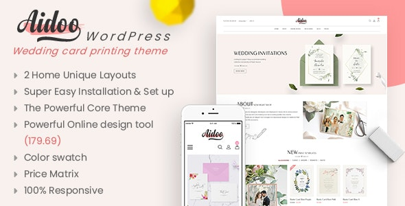 Aidoo - Wedding Card WooCommerce Theme - WooCommerce eCommerce