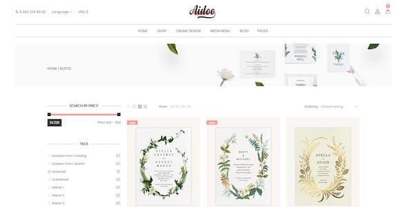 Aidoo - Wedding Card WooCommerce Theme