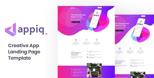Appiq - App Landing Page