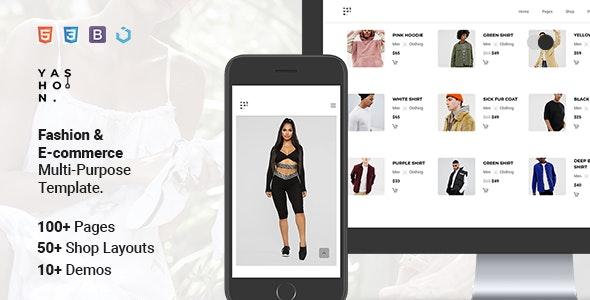 Yashon — Fashion & E-Commerce Multi-Purpose Template - Fashion Retail