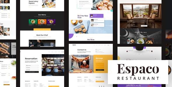 Espaco - Food & Restaurant Sketch Template - Sketch UI Templates