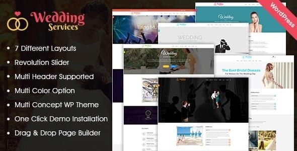 Wedding Services WordPress Theme - Wedding WordPress