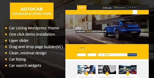 Auto Car WordPress Theme - Directory & Listings Corporate