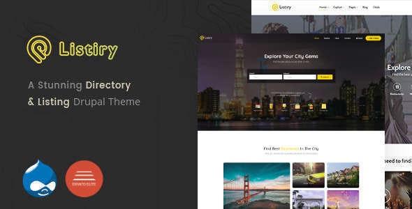 Listiry - Directory & Listing Drupal 9 & 8 Theme - Drupal CMS Themes