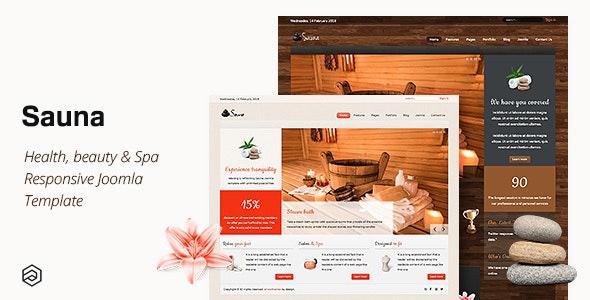 Sauna - Health, Beauty & Spa Responsive Joomla Template - Health & Beauty Retail