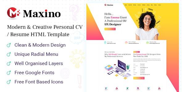 Maxino v1.0 – Personal Resume HTML5 Template
