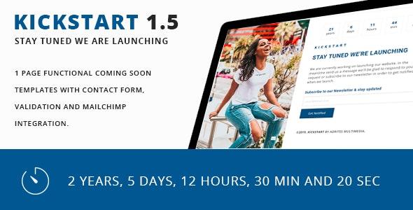 Kickstart - Pre-launch HTML Template - Miscellaneous Site Templates