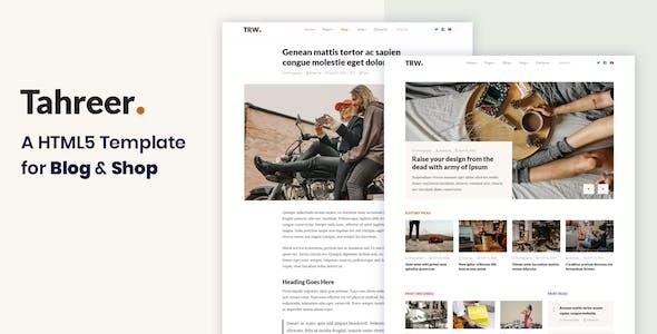 Tahreer – Magazine Blog & Shop HTML Template