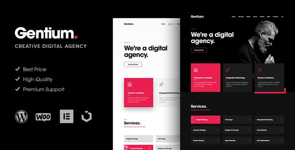 Gentium – A Creative Digital Agency WordPress Theme