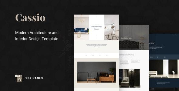 Cassio – Architect Creative Portfolio PSD Template - Portfolio Creative