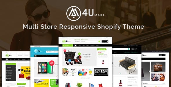 M4U - Multi Store Responsive Shopify Theme